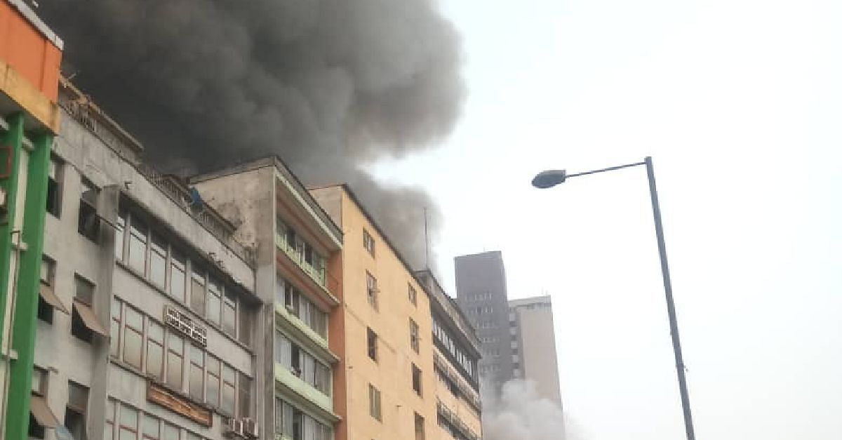 Building Razed By Fire In Balogun Market