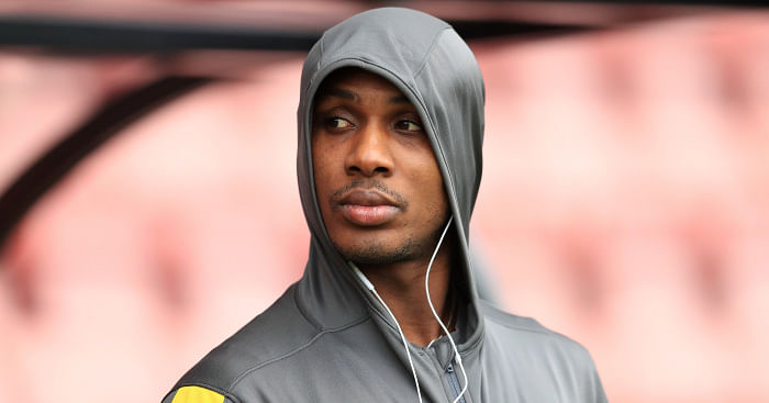 Ighalo Unveils His New Boots With His Late Sister's Name