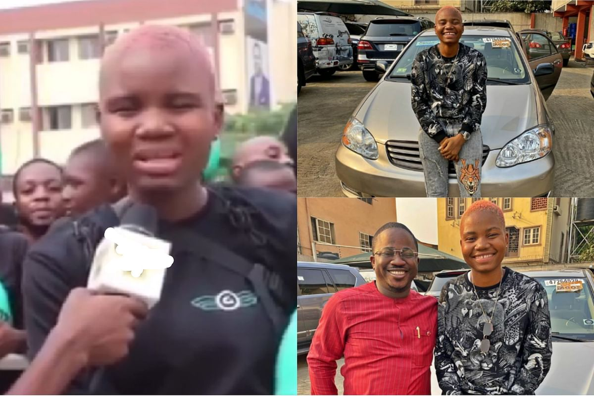 Female Bike Rider Who Spoke Against Okada Ban Gets Car Gift