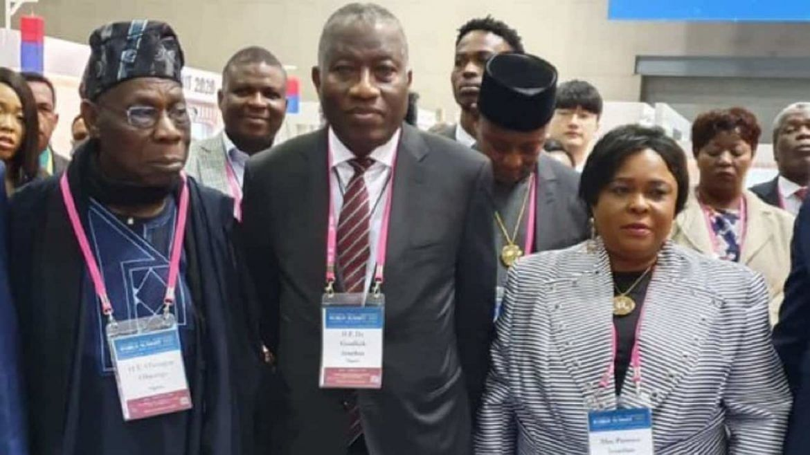 Obasanjo And  Jonathan Reunite At South Korea Summit