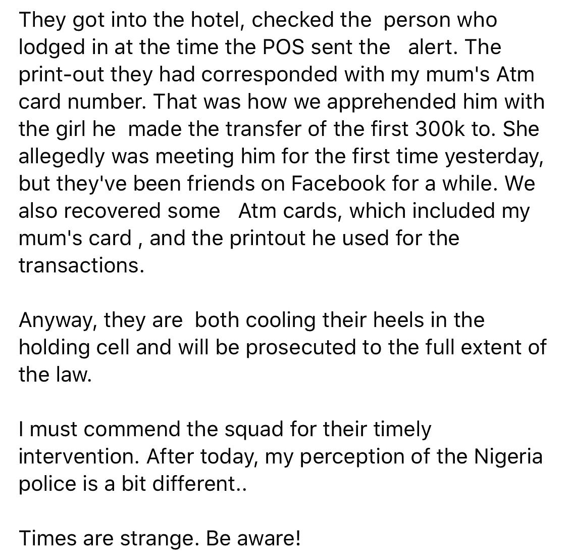 ATM Card Thief Caught In A Hotel