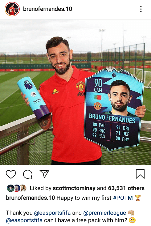 Bruno Fernandes Makes History With Premier League Player Of The Month Win