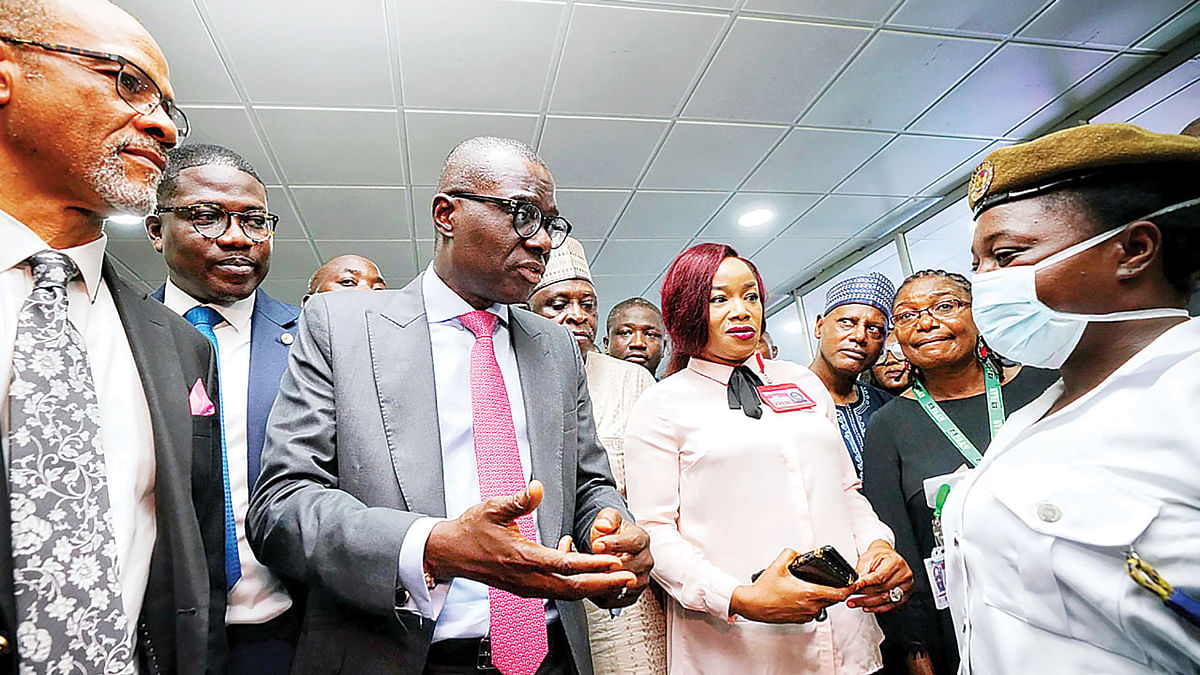 Sanwo-Olu Visits MMIA, Commends Passengers' Screening Process