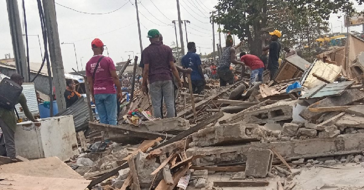 Taskforce Destroys Illegal Structures In Mile 2, Lagos