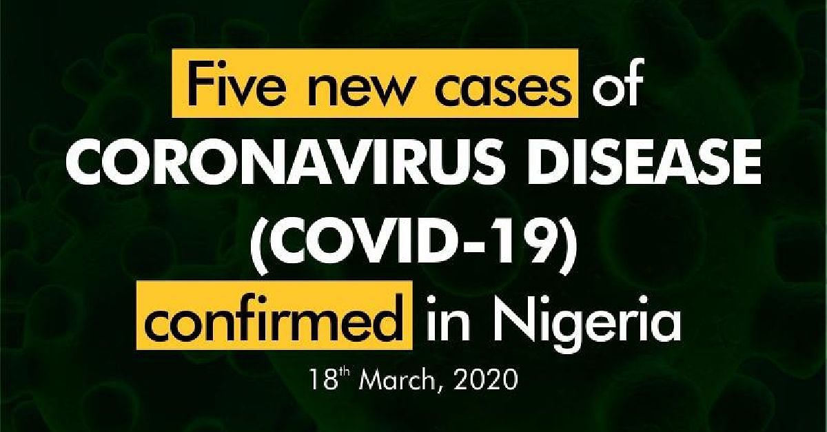 BREAKING: 5 New Confirmed Cases Of Coronavirus In Lagos