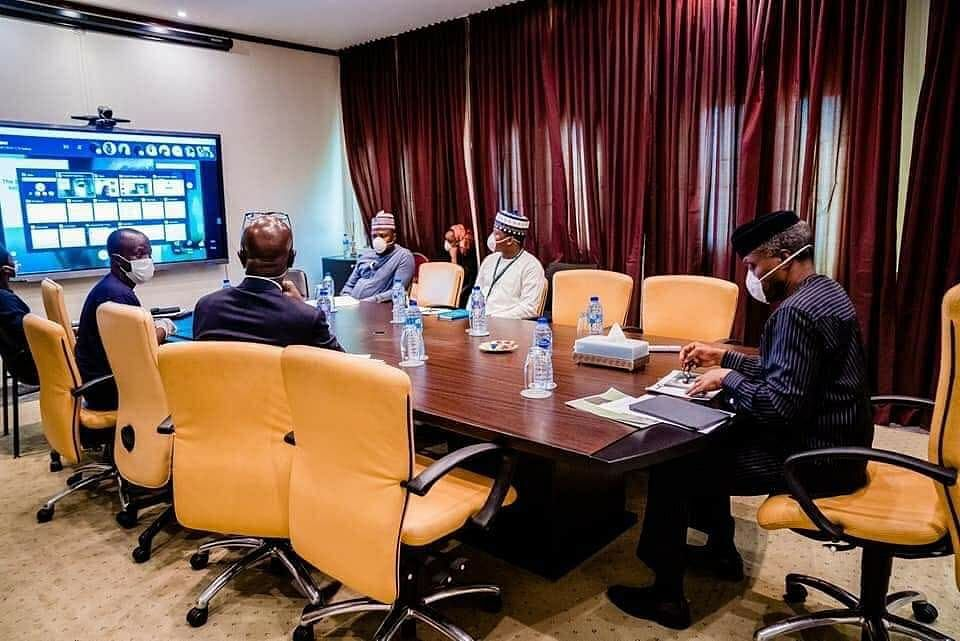 Osinbajo Self-Isolates, Holds Meetings Online