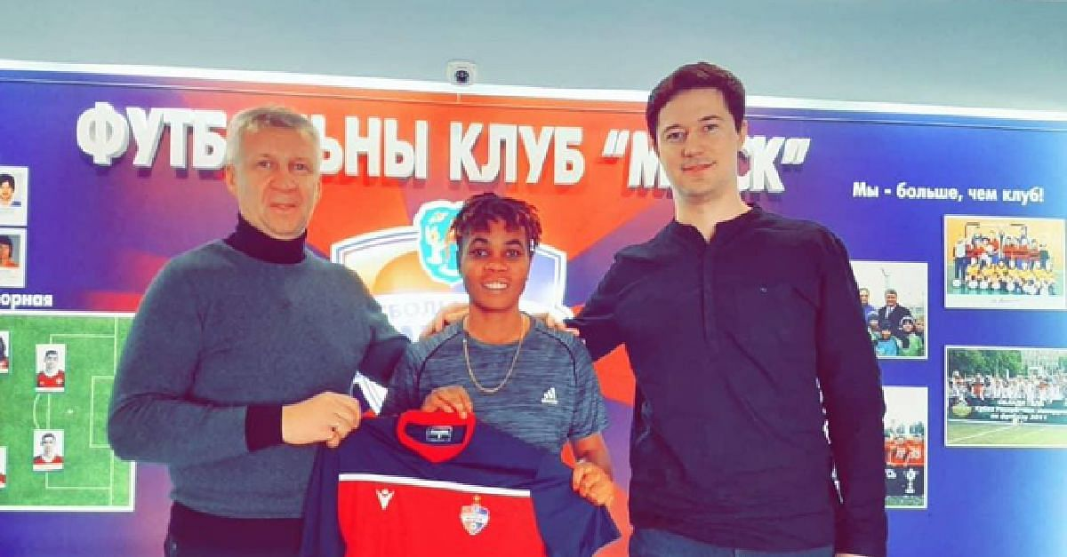 Super Falcons Striker, Chioma Wogu, Signs For Minsk