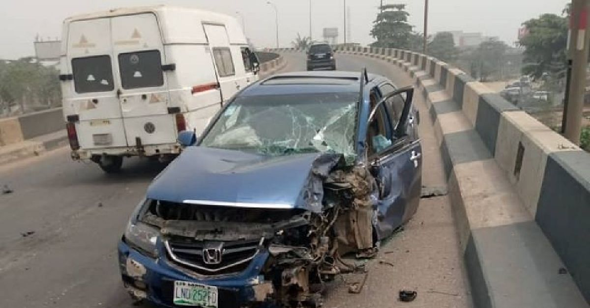 Accident Involving Bullion Van And Honda Car Results In Gridlock
