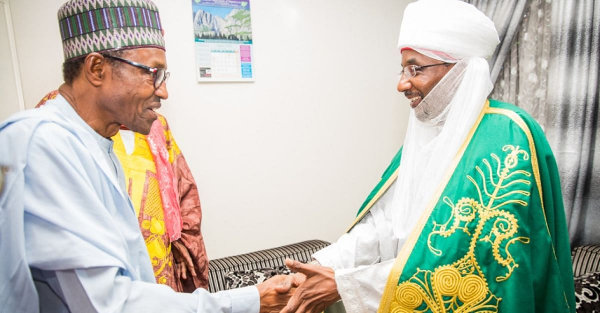 """I have No Hand In Sanusi's Removal,"" Says Buhari"