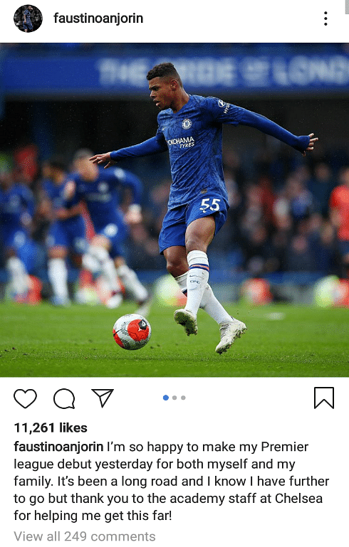 Anjorin And His Nigerian Dad Celebrate His Premier League Debut For Chelsea