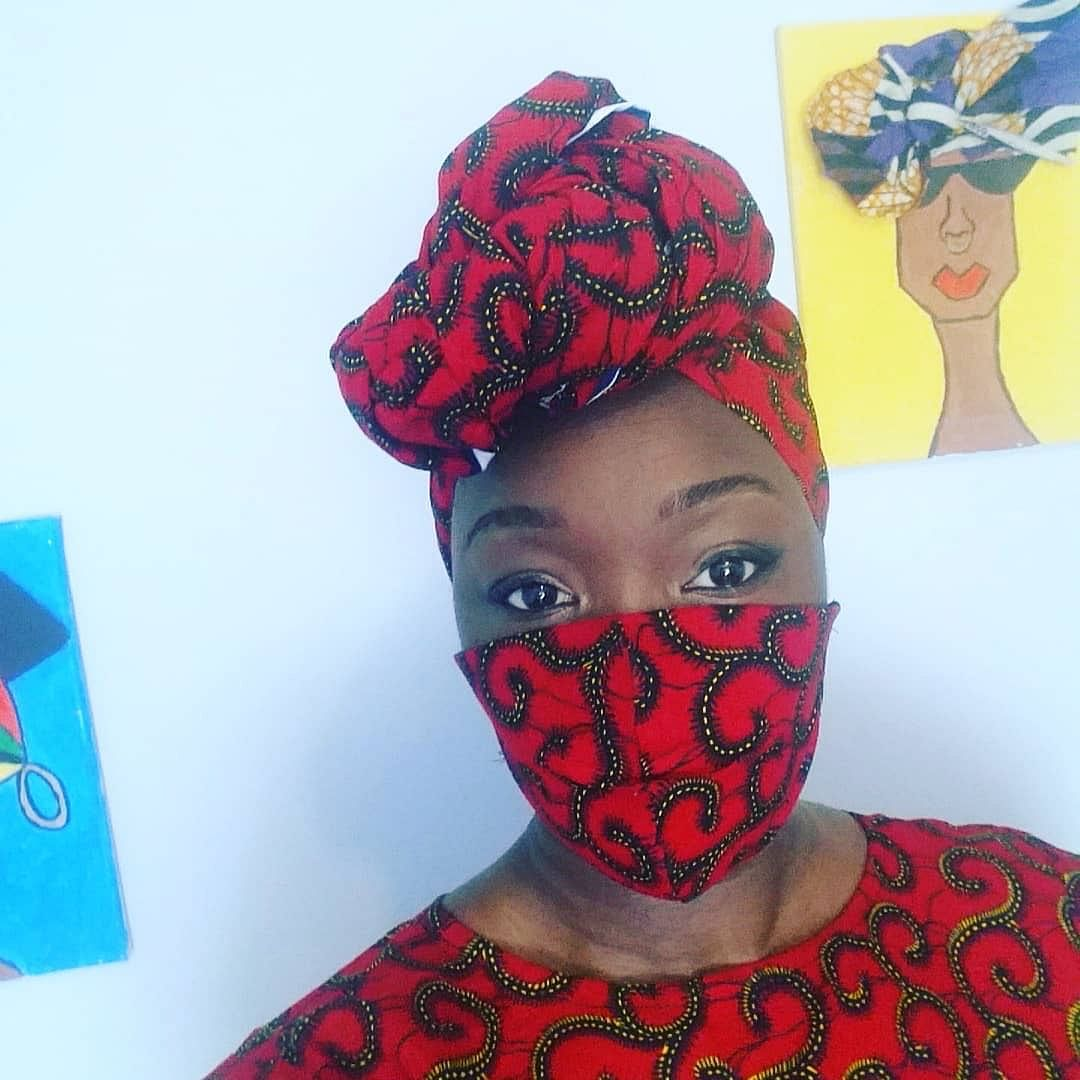 Ankara face mask