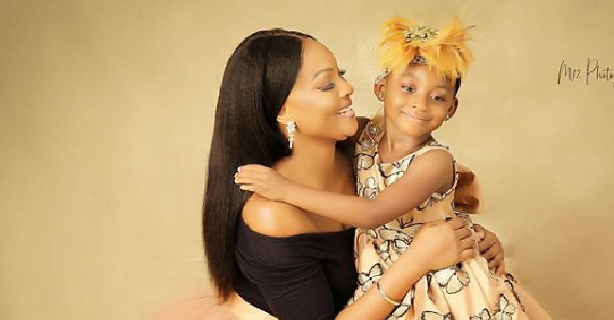Osas Ighodaro and daughter, Azariah