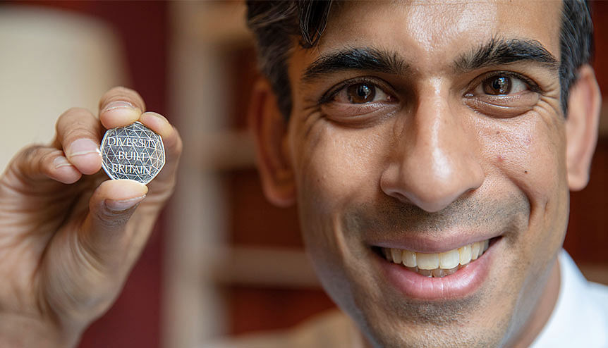 Rishi Sunak launches Diversity Built Britain series of coins