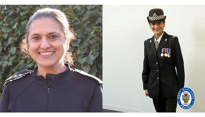 British Indian female cop role models celebrate Queen's medals