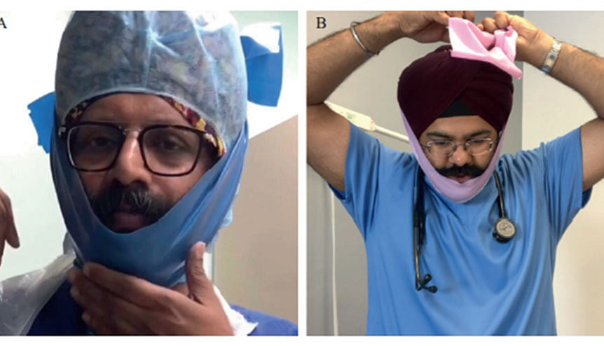 British Sikh surgeon's beard band meets the NHS Covid safety test