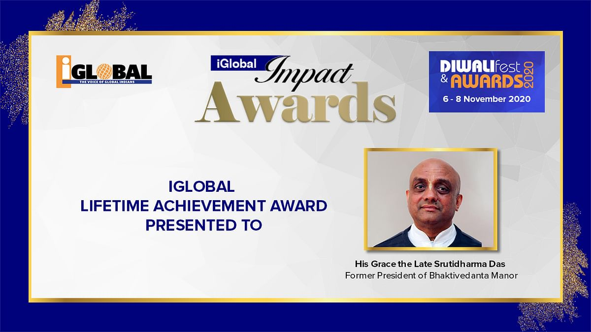 iGlobal Lifetime Achievement Award conferred upon the Late Srutidharma Das