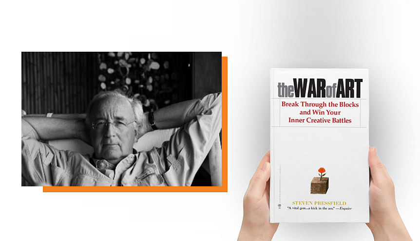 Steve Pressfield's 'The War of Art' is an essential manual for any creative leader