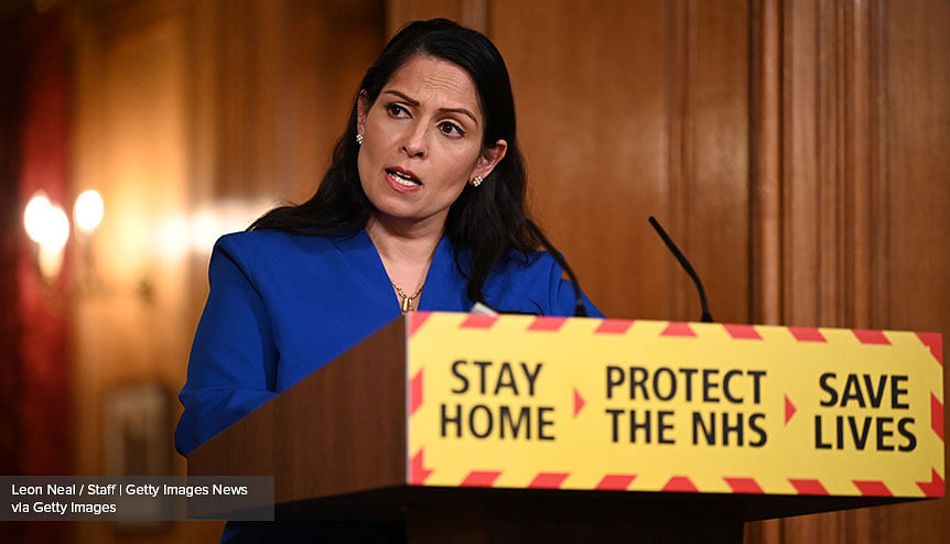 Covid-19 vaccines are solid, safe: Priti Patel's message to British Indians