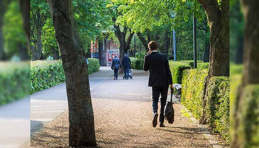 Why a walk in the park may be the answer to work stress