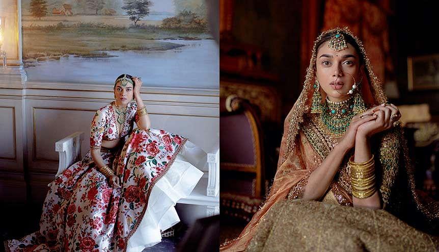 Actress Aditi Rao Hydari is Sabyasachi Mukherjee's muse for 'Khush Wedding' 2021 bridal range