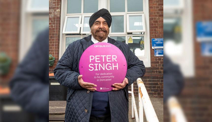 Census 2021: Doncaster community hero Peter Singh honoured with purple plaque