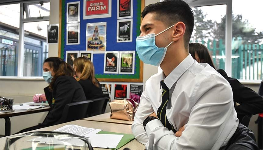 Face masks to keep UK schools, colleges Covid-secure