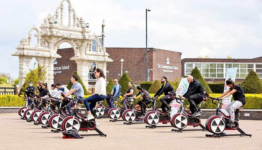 BAPS London to Delhi bikeathon raises funds for Covid India appeal