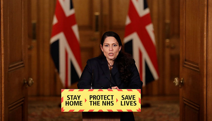 Charges filed for racist social media video targeting Minister Priti Patel