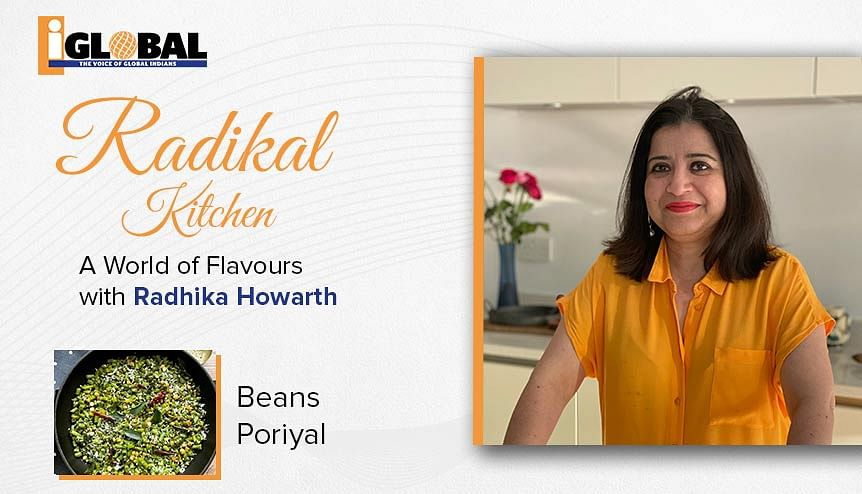 A delightful Beans Poriyal as a quick stir-fry side dish