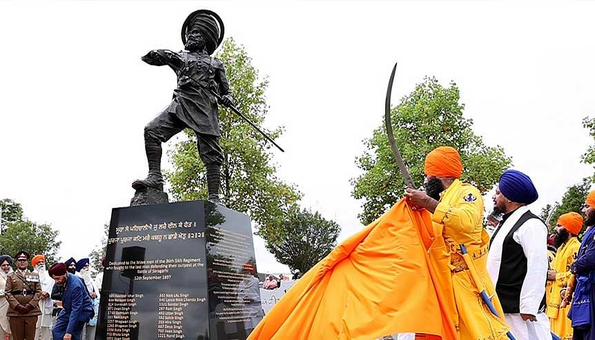 New statue of heroic Sikh soldiermarks Saragarhi Day in Wolverhampton