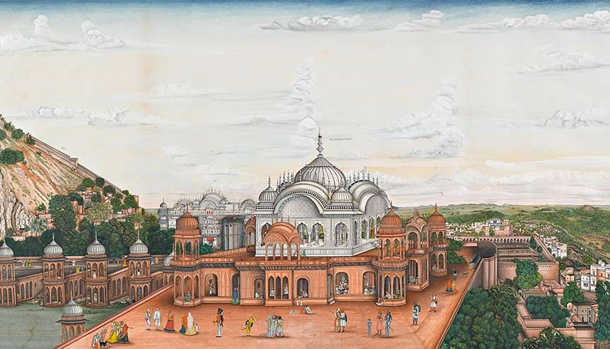 An Indian Garden of paintings recreated in London by Sotheby's