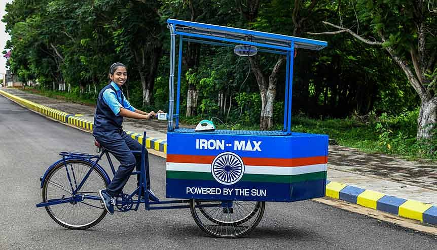 Indian schoolgirl's solar-powered cart in race for Prince William's Earthshot Prize