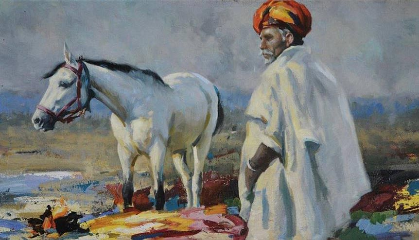 Artist Marcus Hodge's Indian fascination on display at new London exhibition