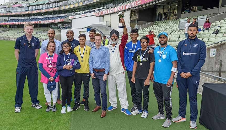 Mayor Andy Street bats for community spirit with Cricket Cup at Edgbaston