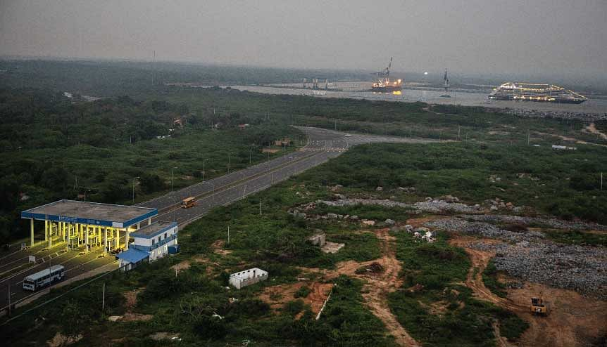 Sri Lanka was forced to hand over 80 per cent ownership of Hambantota Port to China as well as a large swathe of surrounding land on a 99 year-long lease after defaulting on its debts.
