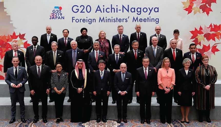 G20 Foreign Ministers′ Meeting in Nagoya. The call is for a proliferation of smaller coalitions of interest like the G20, BRICS or G7.