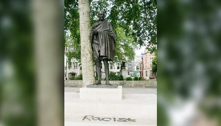 Gandhi statue graffiti evokes diaspora hurt