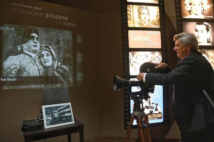 Oscar Academy President John Bailey at the National Museum of Indian Cinema in Mumbai. International films are a rapidly growing segment in the Indian film industry.