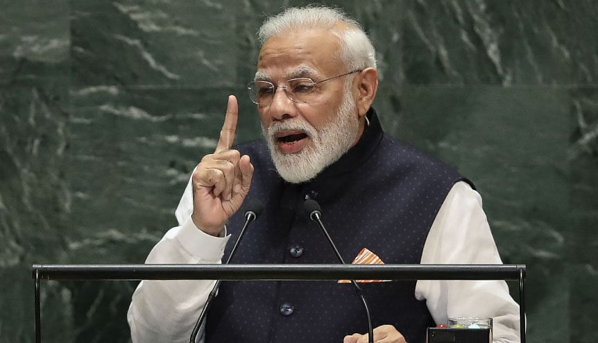 Indian Prime Minister Narendra Modi has spoken about India being a firm believer in the power of unity and collaboration in the international arena.