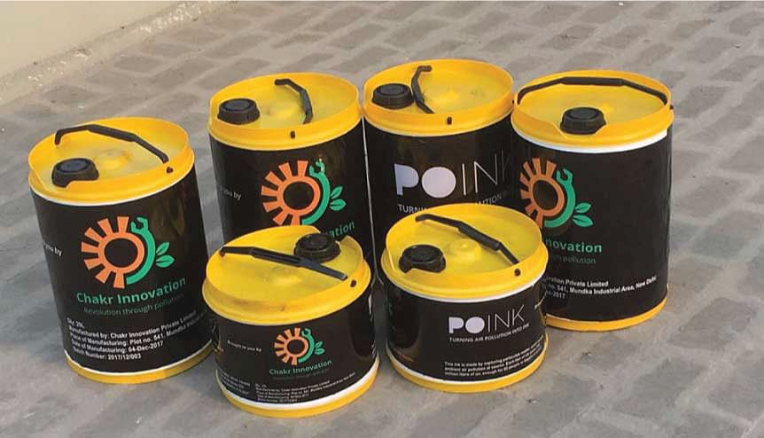 Chakr Innovation produces an emission control device that captures pollution at source and converts it into ink.