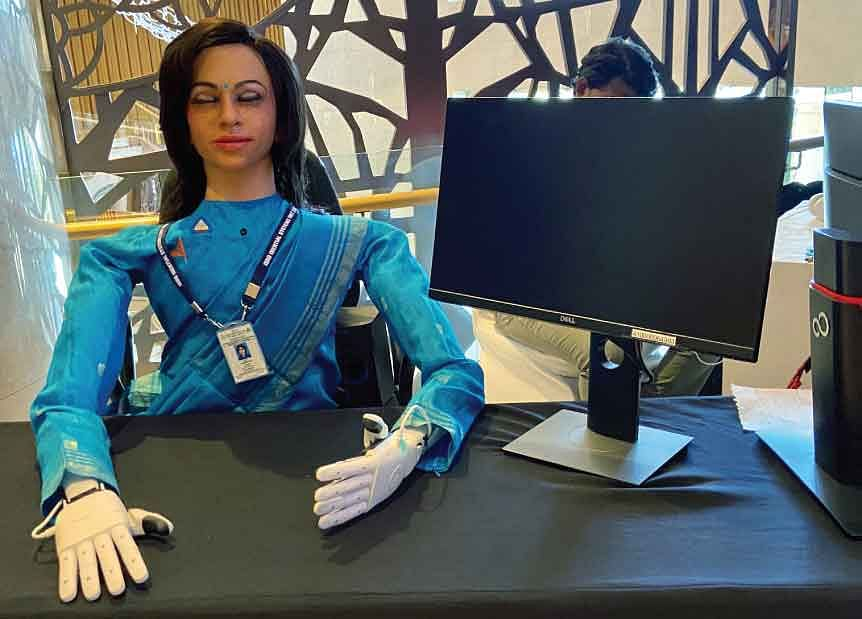 Vyommitra, a female half Humanoid robot by Indian Space Research Organisation for the future unmanned space missions. AI can provide proactive and adaptable approach to execute ideas in a set of positive, concrete and measurable outcomes.