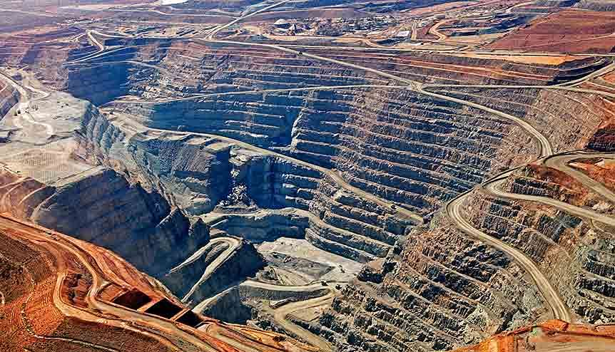 Aerial view of the KCGM Gold mine in Western Australia. Australia can bring a depth of experience to India through almost 200 years of mining.