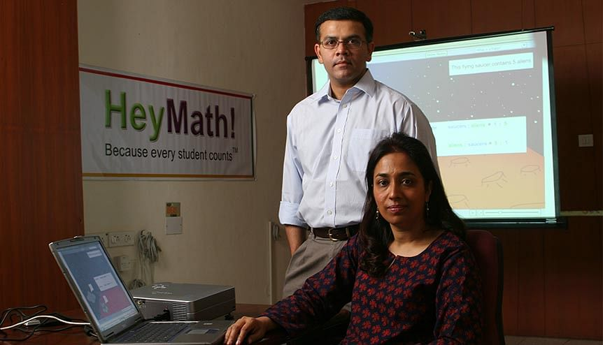 Harsh Rajan and Nirmla Sankaran founders of HeyMath-an E-Learning, online Maths coaching institute in Chennai.