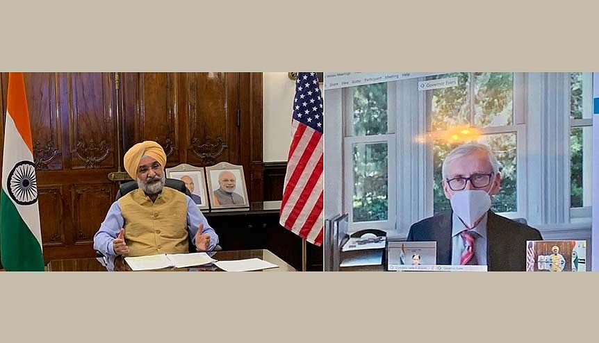 The best is yet to come. Ambassador of India to the US, Taranjit Singh Sandhu and Wisconsin Governor Tony Evers discuss trade and investment as well as people-to-people relations between Wisconsin and India.
