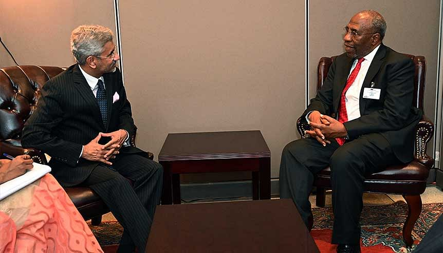 External Affairs Minister S. Jaishankar discussed deeper bilateral collaboration with Dr Ruhakana Rugunda, Prime Minister of the Republic of Uganda on the side lines of 74th session of UNGA in New York.