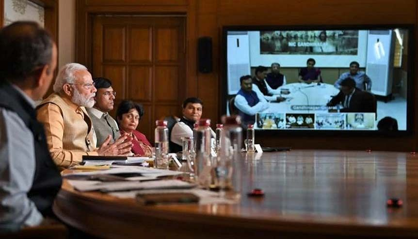 Prime Minister Narendra Modi interacting with the members of the pharmaceutical sector. India's pharma markets have swiftly emerged as a rare green shoot of growth amid economic gloom.
