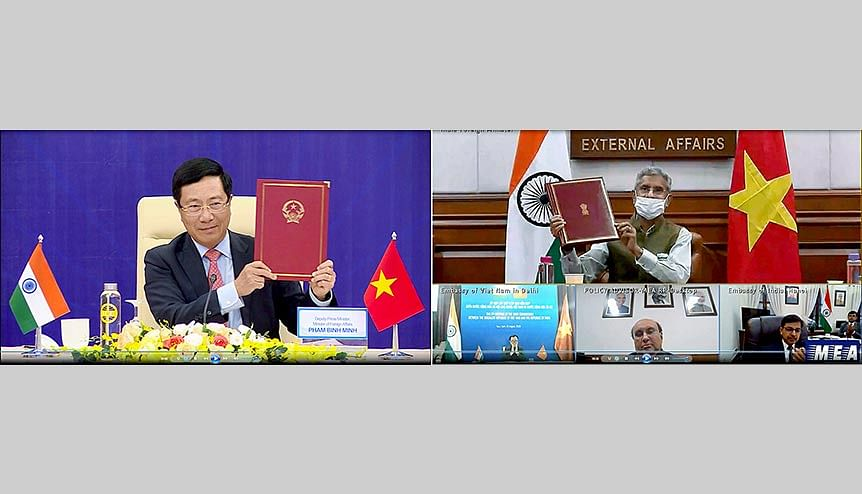 External Affairs Minister Dr. S. Jaishankar had chaired the 17th Meeting of Flag of Vietnam, Flag of India Joint Commission with his Vietnamese counterpart Pham Binh Minh. Ties between the two nations are crucial to SE Asia.