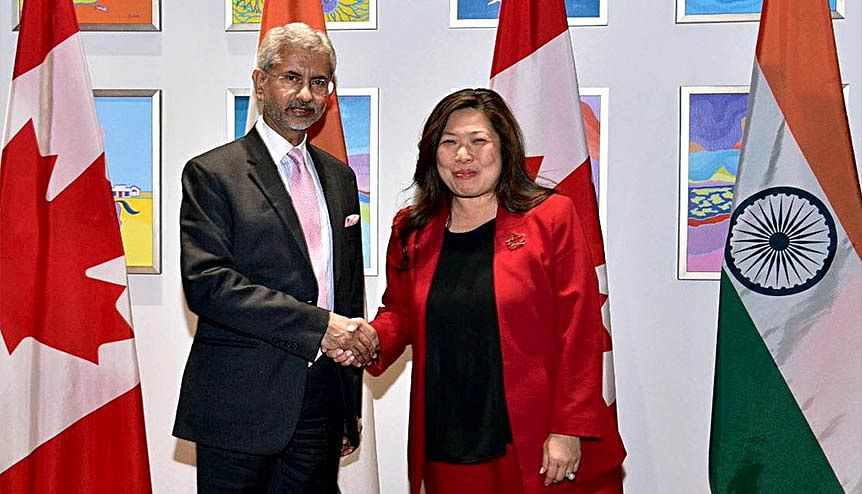 External Affairs Minister S Jaishankar meets International Trade Minister Mary Ng, in Ottawa in 2019. Despite, Covid-19 Indo-Canadian trade numbers have been increasing.