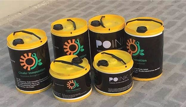 Chakr Innovation, an India based company, produces an emission control device that captures pollution at source and converts it into ink.