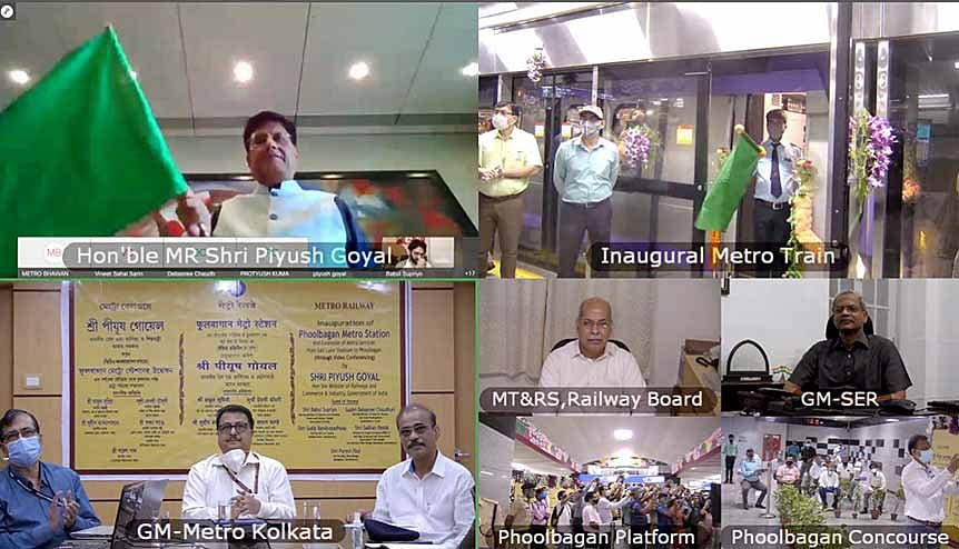 Piyush Goyal, Union Minister of Railways and Commerce & Industry inaugurated Phoolbagan Metro station of East-West Metro through video conference. The Indian Railways is pulling out all stops to regain the ground it has lost to the road transport sector.